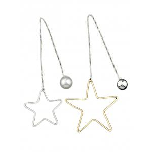 Asymmetric Star Beads Earrings