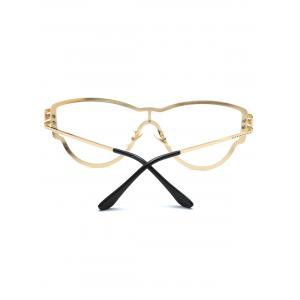 Transparent Lens Butterfly Wrap Sunglasses with Dotted Carved -