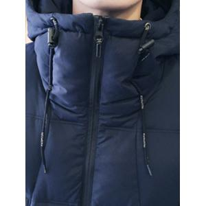 Zipper Design Hooded Puffer Jacket -
