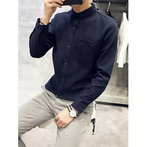 Button Down Long Sleeve Pocket Shirt -