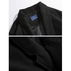 Notched Collar Raglan Sleeve Wool Blend Coat -