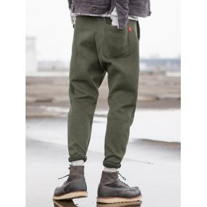 Taper Fit Drawstring Waist Pocket Pants -