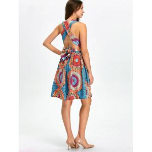 Open Back Knee Length Convertible Cocktail Dress - MULTI XL