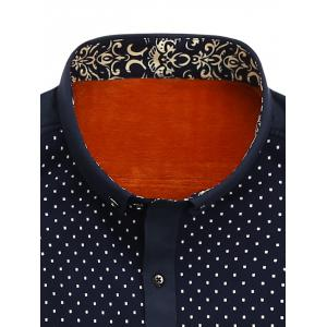 Tiny Patterned Flocking Button Down Shirt -