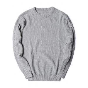 Crew Neck Knitted Texture Sweater -