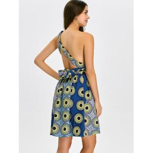 Open Back Pleated Cocktail Dress -