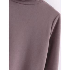 Turtle Neck Front Furcal Sweater -
