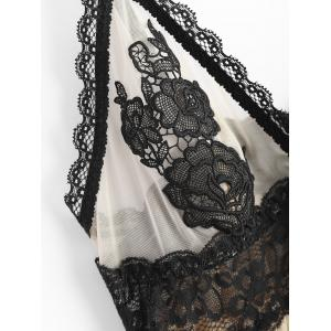 Cami Floral Lace Insert Babysoll With Panty -