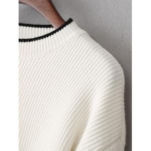 Side Slit High-Low Oversized Pullover Sweater -