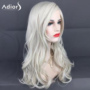 Adiors Long Layered Side Parting Wavy Christmas Party Synthetic Wig -