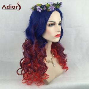 Adiors Long Colormix Side Parting Wavy Christmas Party Synthetic Wig -