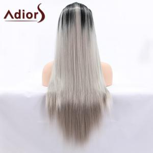 Adiors Hair Long Straight Lace Front Synthetic Wig - COLORMIX