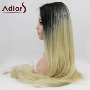 Adiors Hair Long Straight Slightly Curled Lace Front Synthetic Wig -