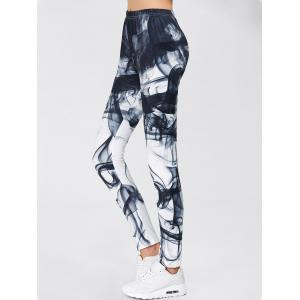 Chinese Painting Print Gym Sports Leggings -