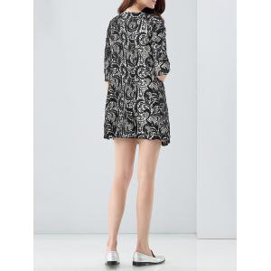 Lace Panel Double-Breasted Coat -