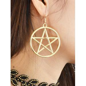 Circle Star Earrings - GOLDEN