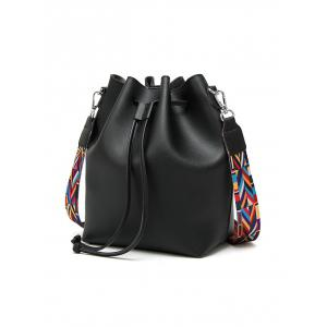 Colored Strap Bucket Bag and Coin Purse -