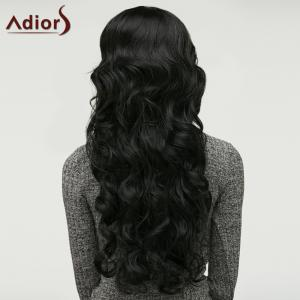 Long Adiors Fluffy Wavy Middle Parting Synthetic Wig -