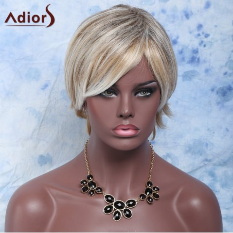 Discount Shaggy Wave Side Bang Short Nobby Capless Mixed Color Heat Resistant Fiber Wig For Women COLORMIX