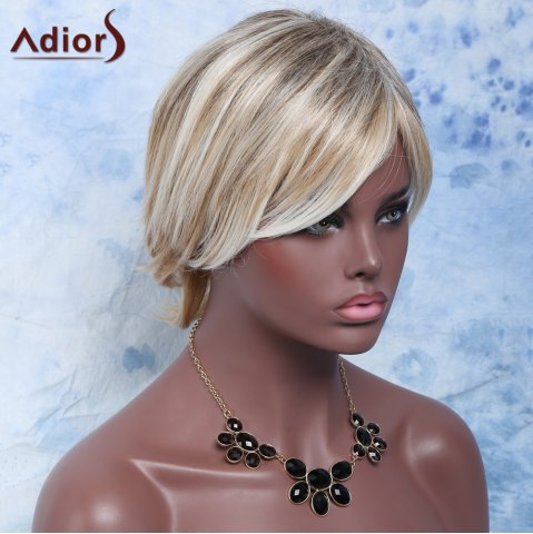 New Shaggy Wave Side Bang Short Nobby Capless Mixed Color Heat Resistant Fiber Wig For Women - COLORMIX  Mobile
