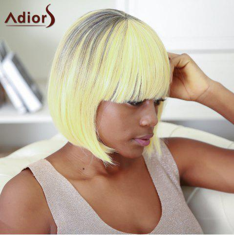 Hot Boutique Short Straight Full Bang Gradient Women's Synthetic Hair Wig COLORMIX