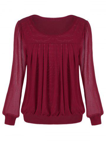 Buy Ruched Sheer Blouse