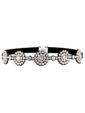 New Rhinestone Faux Leather Choker Necklace
