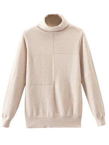 Discount Patched High Neck Knitwear