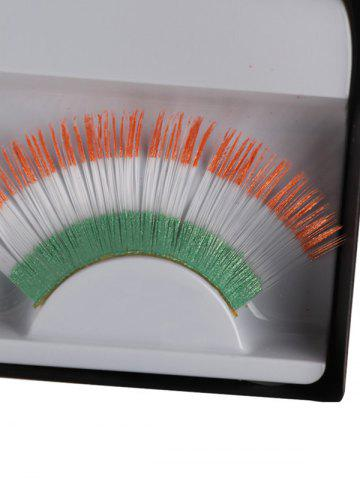 Latest Pair of Ireland Flag False Eyelashes - COLORMIX  Mobile