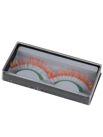 Chic Pair of Ireland Flag False Eyelashes - COLORMIX  Mobile