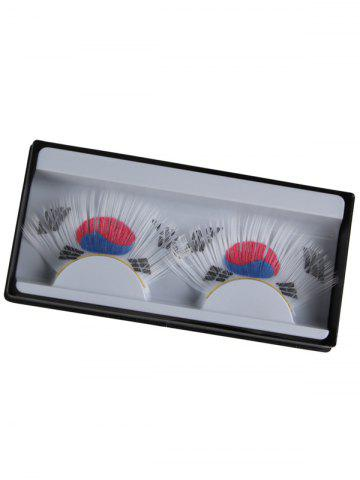 Outfits South Korean Flag Pattern False Eyelashes WHITE