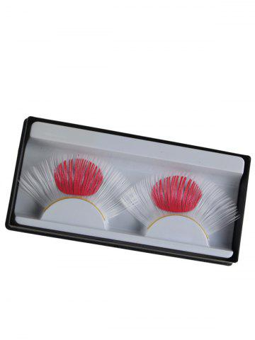 Best Pair of Japanese Flag False Eyelashes - WHITE  Mobile