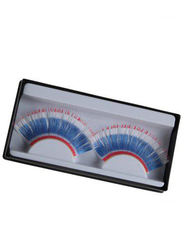 Sale Pair of Thai Flag False Eyelashes - BLUE  Mobile