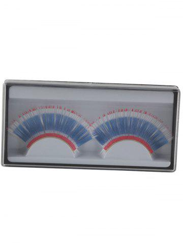Chic Pair of Thai Flag False Eyelashes - BLUE  Mobile