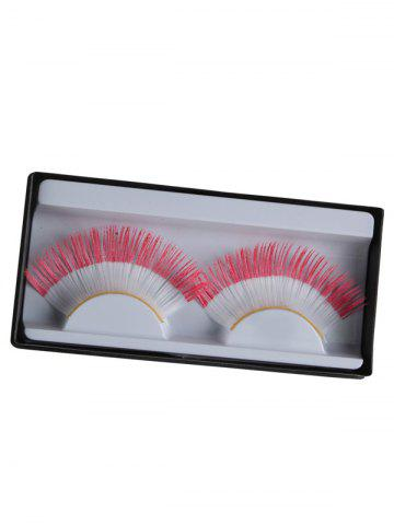 Cheap Pair of Indonesian Flag False Eyelashes - RED  Mobile