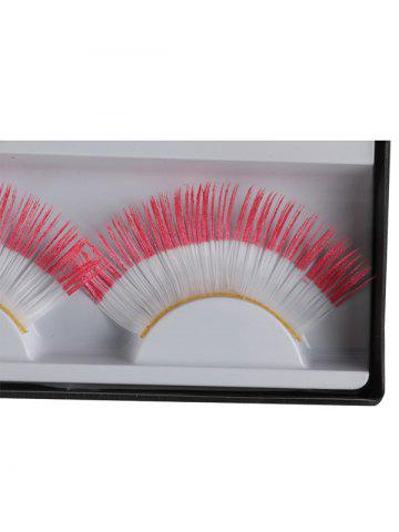 Latest Pair of Indonesian Flag False Eyelashes - RED  Mobile