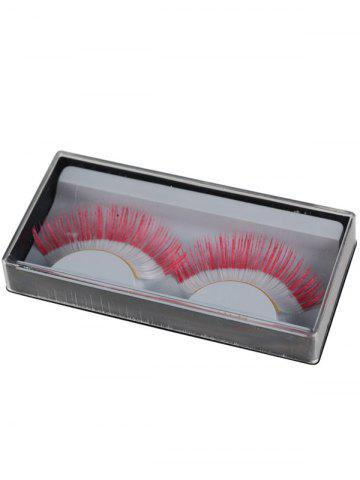 Online Pair of Indonesian Flag False Eyelashes - RED  Mobile