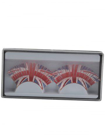 Online Pair of Union Flag False Eyelashes - RED  Mobile