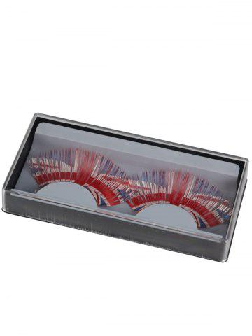 Latest Pair of Union Flag False Eyelashes - RED  Mobile