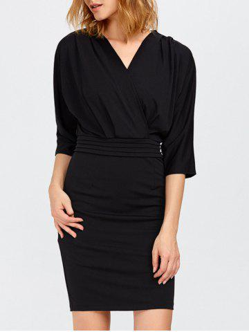 Outfits V Neck Surplice Mini Bodycon Dress