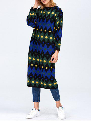 Outfits Color Block Midi Shift Sweater Dress