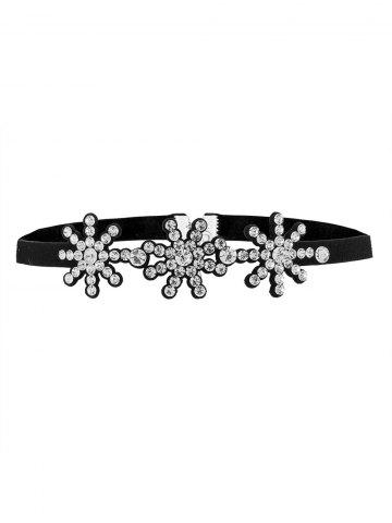 Outfits Rhinestoned Snowflake Choker Necklace