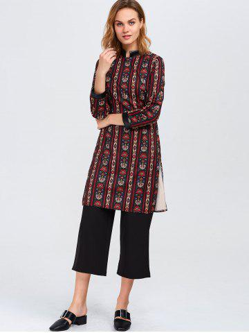 Outfits Tribal Print Top with Wide Leg Pants