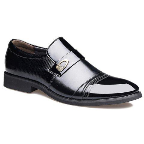 Shops Metal Square Toe Formal Shoes - 42 BLACK Mobile