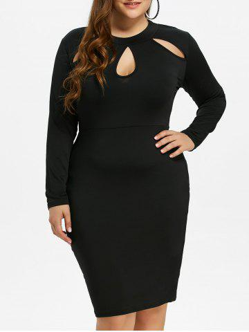 Best Cut Out Plus Size Bodycon Tight Dress