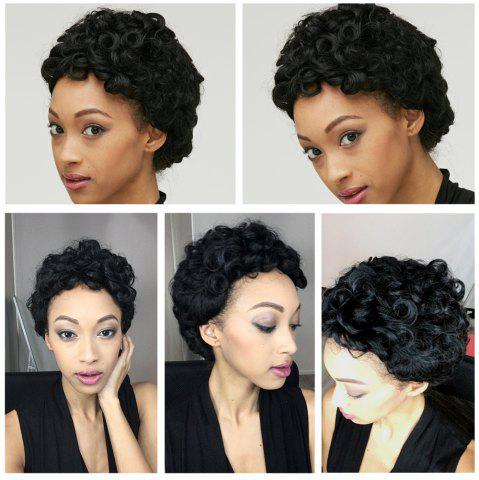 Latest Adiors Short Shaggy Curly Synthetic Wig BLACK