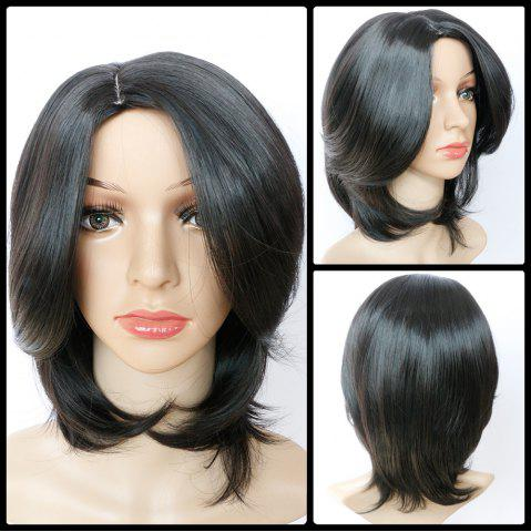 Chic Shaggy Short Straight Side Bang Synthetic Wig