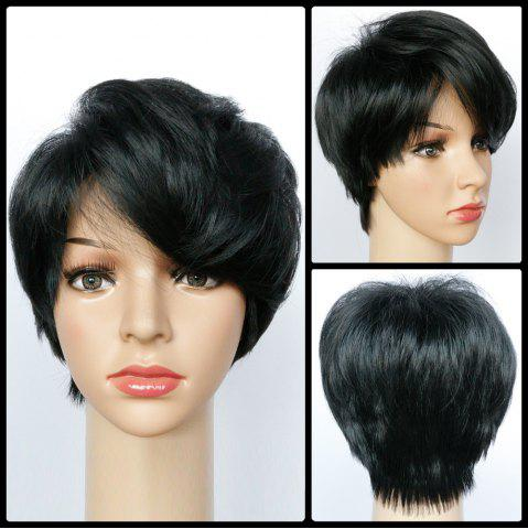 Sale Straight Short Oblique Bang Capless Synthetic Wig