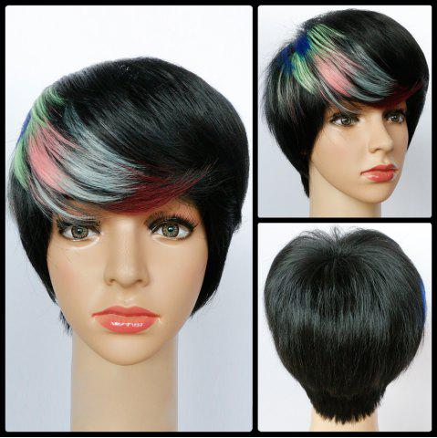 Online Highlight Inclined Bang Short Straight Synthetic Wig