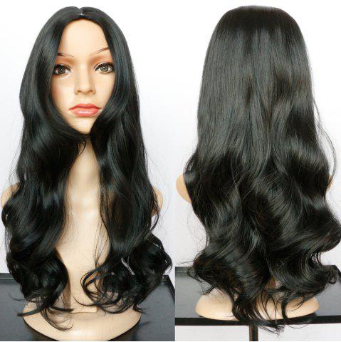 Fashion Long Centre Parting Wavy Tail Adduction Synthetic Wig